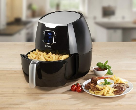 Friteuza digitala fara ulei Air Fryer XXL  DOMO DO513FR, Capacitate 5,5 Kg, Programe automate 8